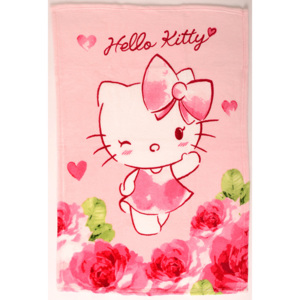 Vesna | Deka mikro Hello Kitty 75x100 cm