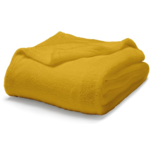 TODAY TODAY Maxi fleece deka 220x240 cm Safran - žlutá