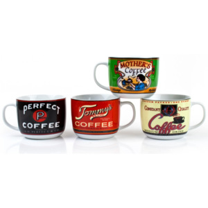 Banquet Hrnek Retro Coffee 730 ml, 4 ks