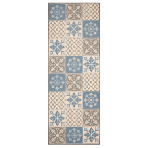 Zala Living - Hanse Home koberce Běhoun Mare 67x180 Vibe 103492 creme brown blue - 67x180 cm