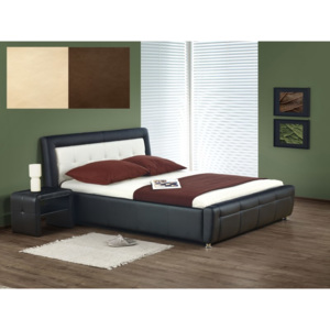 SAMANTA bed color: brown/beige
