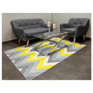 Koberec Vesardi GEOMETRIC Grey Yellow