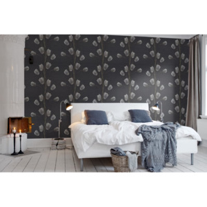 Tapeta Rebel Walls - La Vie En Tulipe, Black