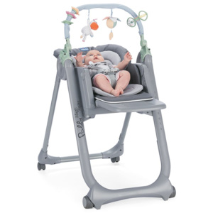 Chicco Židlička jídelní Polly Magic Relax - Dove Grey