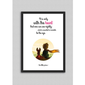 Obraz North Carolina Scandinavian Home Decors Little Prince Quote V1, 33 x 43 cm