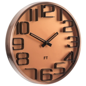Nástěnné hodiny Future Time FT7010CO Numbers copper 30cm