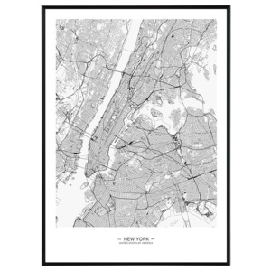 New York map - 50x70 cm Obraz