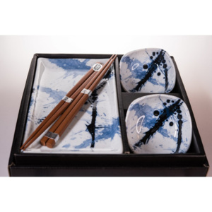 Sushi set BLUE & WHITE 6 ks