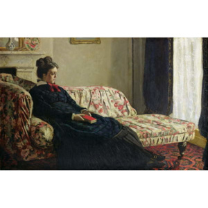 Obraz, Reprodukce - Meditation, or Madame Monet on the Sofa, c.1871, Claude Monet