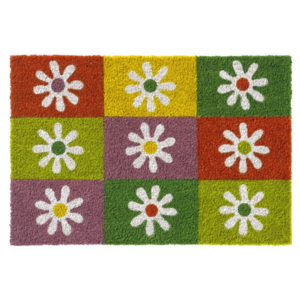 Vopi 147 Ruco Print 742 Squares & Flowers 147 Ruco Print 742 Squares & Flowers