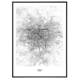 Paris map - 50x70 cm Obraz